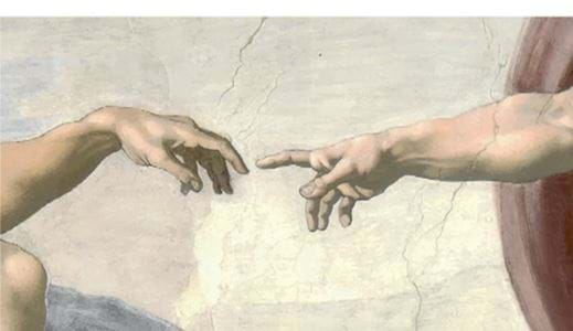 Maleri av Michelangelo - The Creation of Adam fra colourbox.com
